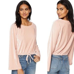 Cupcakes and Cashmere Velvet Bell Sleeve Top